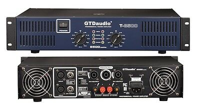 2 Channel 8500 Watts Professional Power Amplifier AMP Stereo GTD-Audio T-8500