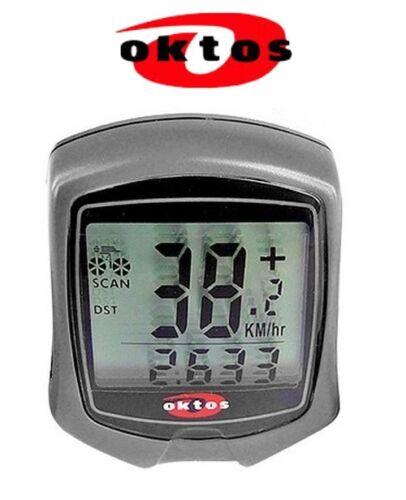 Compteur vélo OKTOS km//h chronomètre montre comparateur NEUF bike meter counter