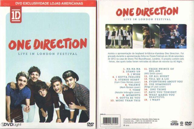 DVD 1d One Direction - Live in London Festival Brazilian Release