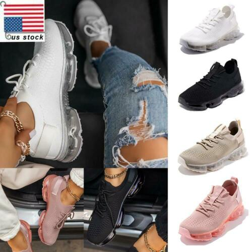 Details about  /Women Air Cushion Sports Athletic Sneakers Outdoor Comfy Running Shoes Trainers