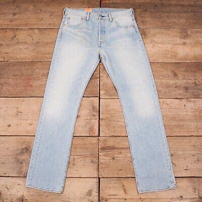 """Da Uomo Deadstock Levis Red Tab Irregolare 501 Jeans Denim Blu 32"""" X 32"""" R11709-mostra Il Titolo Originale Top Angurie"""