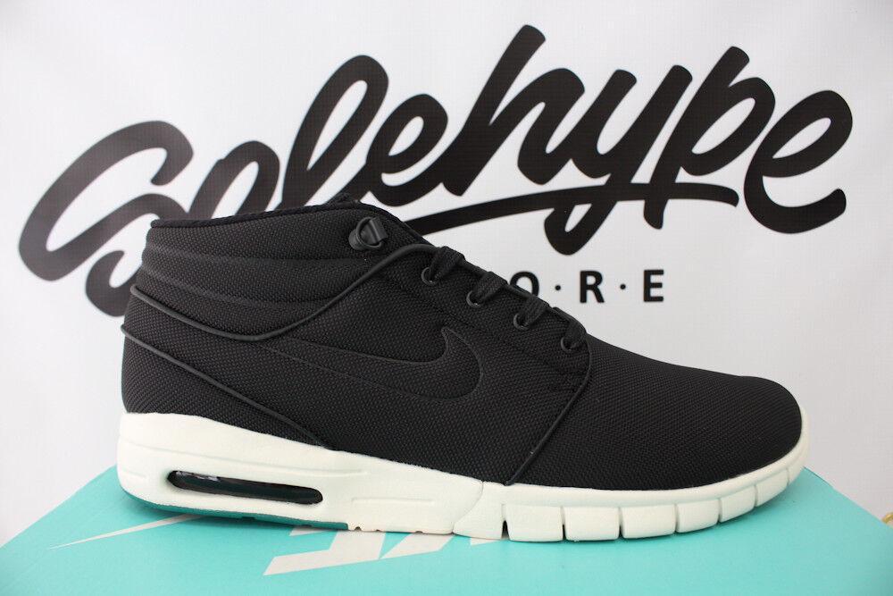 Nike SB Zoom Stefan Janoski Max MID MID MID Negro Verde Neptuno Blanco 807507 003 a92a73