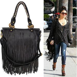 Ladies-LYDC-Celebrity-Tassel-Rock-Chic-Shoulder-Bag-Fringe-Bag-Handbag-GL1210
