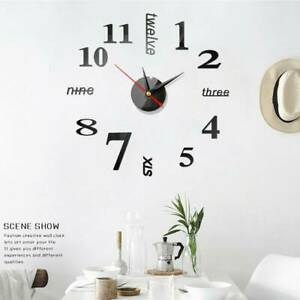 Hot Wall Clock Watch Large Modern Diy Sticker Decal Simple