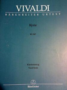 Klavieruszug Kyrie Original Vivaldi Rv 587 Vocal Score
