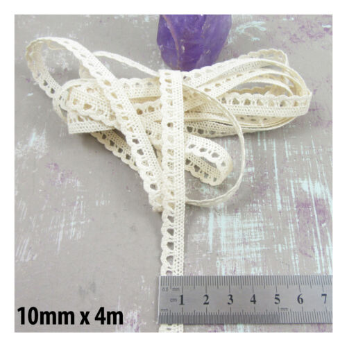 CREAM *19 STYLES WIDTHS* SEWING TRIM HABERDASHERY COTTON LACE TRIMMING WHITE