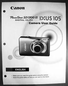 canon powershot sd1300 is ixus 105 digital camera user guide manual rh ebay com Canon PowerShot TX1 Canon PowerShot SX 170
