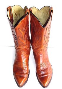 Dan Post 9D Caramel Brown Western Style Kickin' Around Not So Nice Cowboy Boots