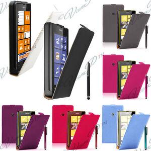 nokia lumia 520 521 housse coque etui pochette clapet cuir v 233 ritable cover ebay