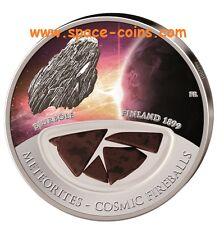 2013 Fiji Meteoriten Münze- Bjurböle - 999 Stück! $10 Silber, Cosmic Fireballs
