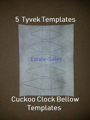 """Cuckoo Clock Bellow Top Lift Wire 2 1//2/"""" NEW Bellows Part German Made Pair"""
