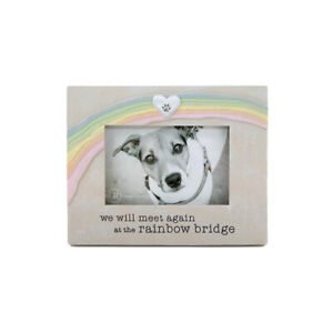 Grasslands Road 4x6 Picture Frame Rainbow Bridge Dog Pet Loss Memorial Photo