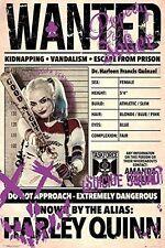 Suicide Squad quería Harley Quinn Cartel Margot Robbie Impresión Pared Arte Grande Maxi