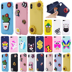 huge discount d8fb3 12d1c Details about Fashion DIY 3D Animals Soft Silicone Phone Case Cover For  iPhone Samsung Galaxy