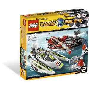 Lego-World-Racers-Jagged-Jaws-Reef-Set-8897-w-2-Minifigs-NEW-SEALED-Retired