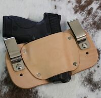 Iwb Holster For S&w M&p Shield | Leather Holster | Made In Usa | Ambidextrous