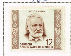 Details about Germany DDR Famous French Writer Victor Hugo stamp 1953 MLH