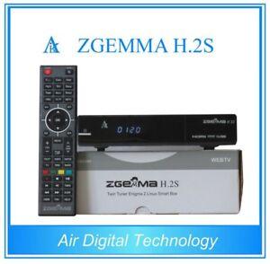 Original ZGEMMA H.2S 2018 DUAL CORE SATELLITE RECEIVER DVB-S2