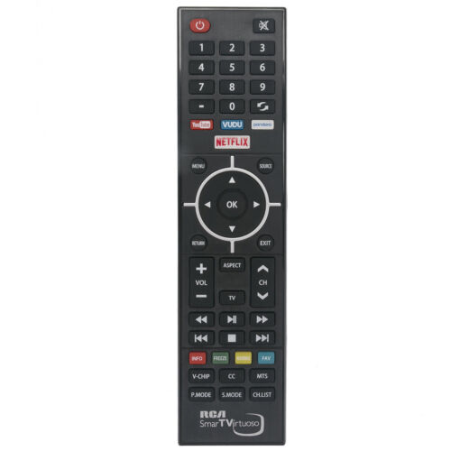 New RCA SmartTVirtuoso Remote Control for RCA Smart TV Virtuoso RNSMU5536