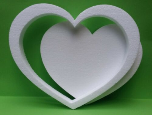 Herz Rahmen 30 cm Höhe 3 cm Hochzeit Geschenkidee Gießform Mosaik Beton Styropor