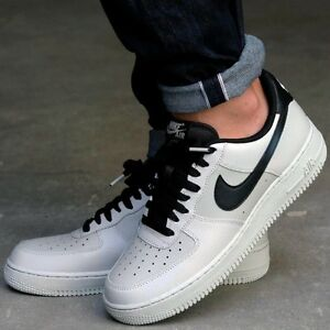 NIKE AIR FORCE 1 ONE 07 LOW MEN'S SHOE LIFESTYLE COMFY SNEAKER Pale Grey Black