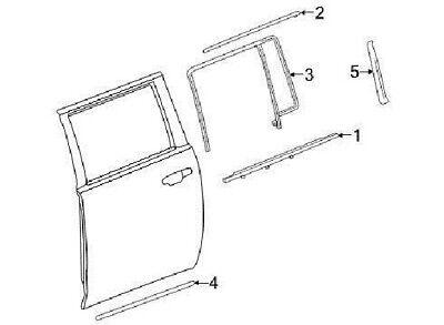 GM OEM REAR DOOR-Body Side Molding Right 22997635
