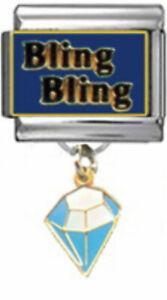 DIAMOND-BLING-BLING-Dangle-Italian-9mm-Charm-NC162-Fits-Nomination-Classic