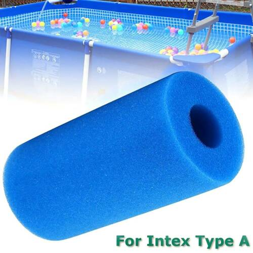 Reusable Washable Swimming Pool Filter Foam Sponge Cylinder For Type A Blue