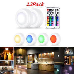 Details About 12x Rgb Led Under Cabinet Lighting Cupboard Kit Kitchen Light Ing W Remote