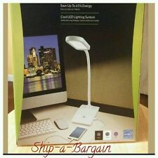 IVY LED Desk Lamp with built-in USB charger in White Only HOME/OFFICE��NEW