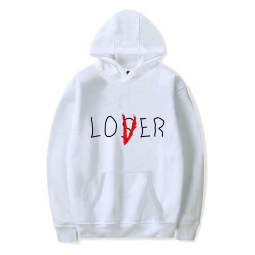 """/""""Loser Lover/"""" Hoodie Printed Casual Sweatshirt Men Women Unisex Hooded Pullover"""