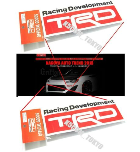 1 set of 2 Oem TRD DECAL SCION FR-S FRS BB LEXUS SUPRA FJ CRUISER IS300 LUV4 Jdm