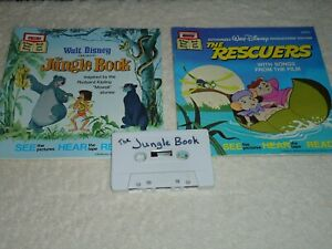 Details About Disney The Rescuers The Jungle Book Cassette And 2 Book Read Along