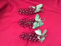 3 Midwestern Home Products Decorative Grape Bunches Lqqk
