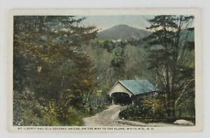 Postcard-Mt-Liberty-Covered-Bridge-Flume-White-Mountains-New-Hampshire