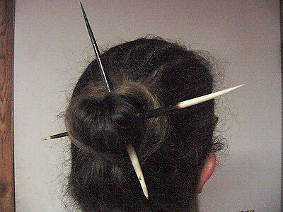 Beaded Hair Stick Hairstick Porcupine Quill Hair Pin African Porcupine Quill hair Stick