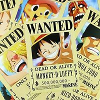 Anime One Piece Pirates Wanted Posters 9pcs Set High Quality Brand - No Tax on sale