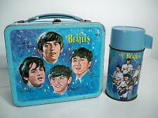 D1043984 BEATLES BAND LUNCHBOX & THERMOS 1965 METAL LUNCH BOX LENNON HARRISON
