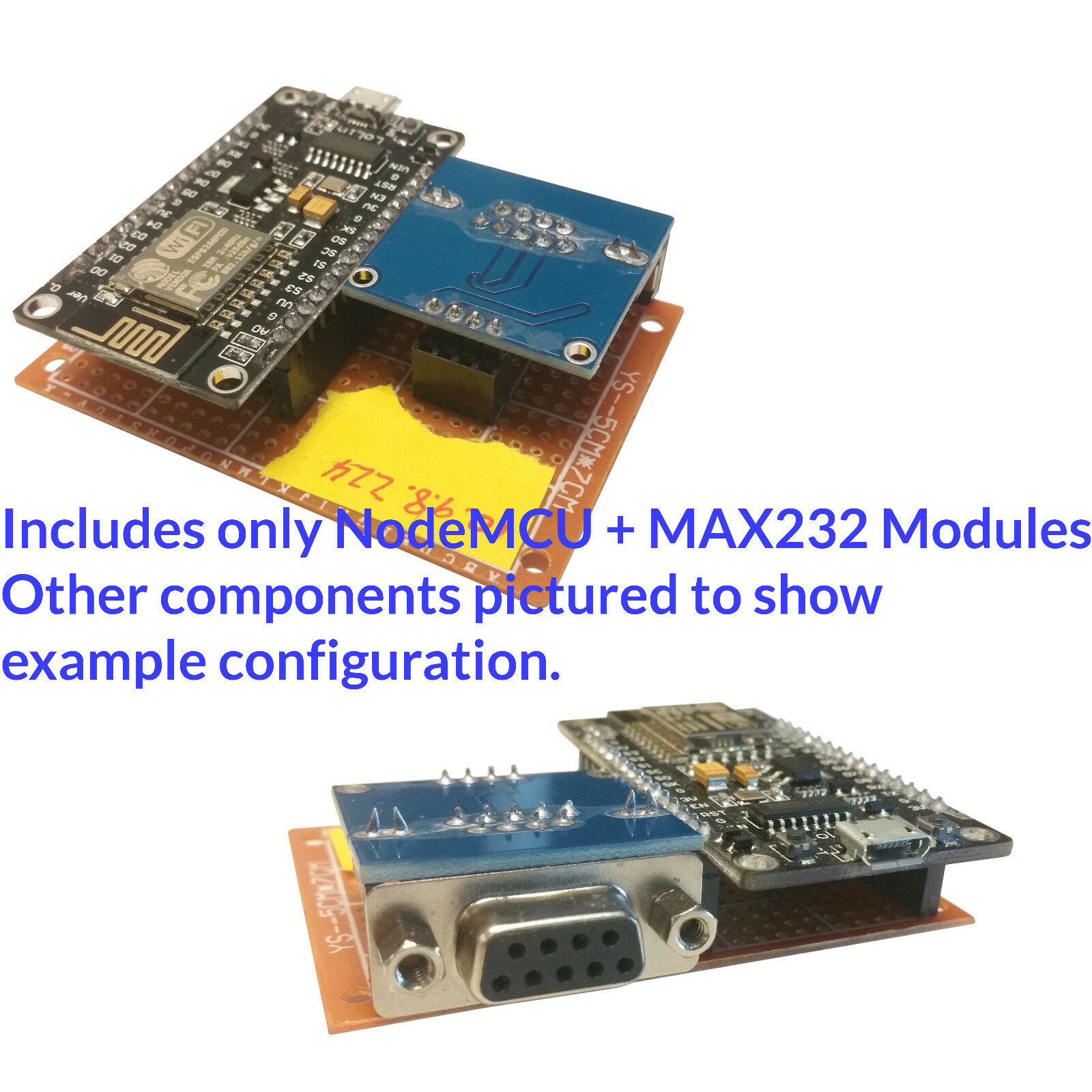Details about ESP8266 NodeMCU + MAX232 RS-232 ESP-Link Serial Wifi Gateway  Kit NO HEADERS