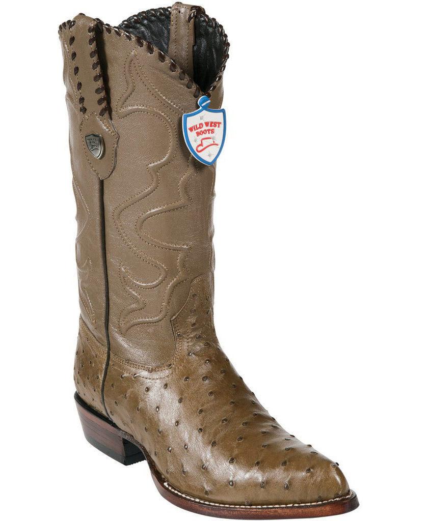Wild West vison véritable Plein plume autruche Western Cowboy démarrage J-TOE (extra large)