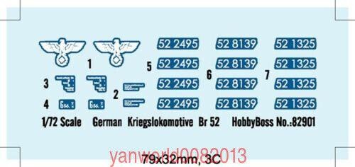 HobbyBoss 1//72 82901 German Kriegslokomotive Br52 for sale online