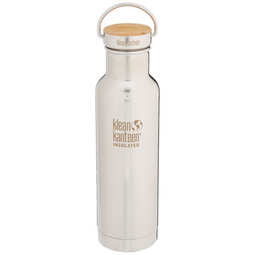 Klean Kanteen Reflect 20 oz Insulated Bottle with Bamboo Loop Cap