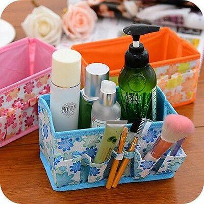 New Beauty Multifunction Folding Makeup Cosmetics Storage Box Organizer Flower