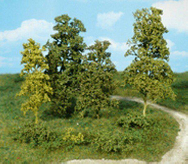 Heki 1672 kreativ Blätterbäume und Büsche dunkelgrün, 15 Stück Fabrikneu