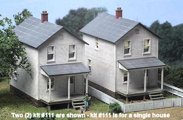 City Classics HO Scale -- Railroad Company House (Three in Kit) - NIB