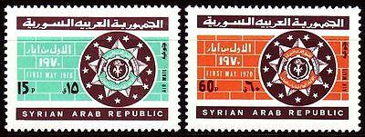 Briefmarken ZuverläSsig Syrien Syria 1970 ** Mi.1107/08 Tag Der Arbeit Labour Day Farben Sind AuffäLlig Mittlerer Osten