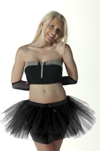 Neuf femme filles 3 couches crazy chick déguisement enterrement vie jeune fille tu tu jupe taille 8-22