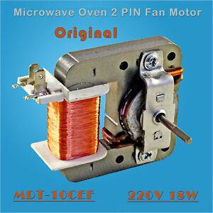 Calidad-de-original-Horno-microondas-2PIN-Motor-de-ventilador-MDT-10CEF-220V-18W