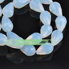 10pcs 15x10mm Teardrop Faceted Crystal Glass Loose Spacer Beads Opal Free Ship