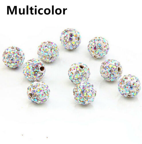 8 mm 10 mm 12 mm Clay Cristal Boule Disco Perles À faire soi-même Making Fashion Jewelry